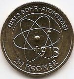Danemarca 20 Kroner 2013 - Margrethe II - Niels Bohr Atomteori  KM-956 UNC !!!, Europa