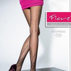 Dresuri cu Model Andressa Fiore dresuri cu model cu fluturași, 20 DEN., Culoare: Negru