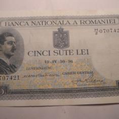 500 lei 1936 - Bancnota romaneasca