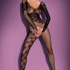 Bodystocking tip plasă, crotchless marca Obsessive., Marime: Marime universala, Culoare: Negru