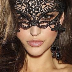 Mască din Dantelă Neagră Loretta