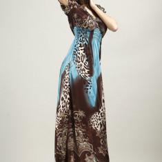Rochie Lungă Stefany - Rochie de zi, Marime: XL, Culoare: Galben, Roz