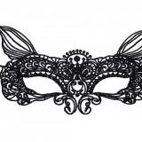 Mască din Dantelă Marcia broderie neagra, Negru