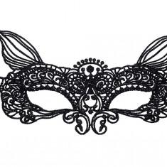 Mască din Dantelă Marcia broderie neagra, Culoare: Negru