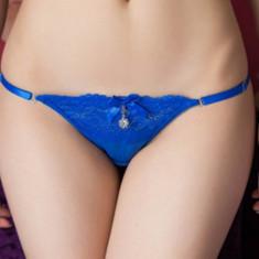 Chiloti Tanga Dantelati Erika - Chiloti dama, Culoare: Albastru, Fuchsia, Roz, Marime: M