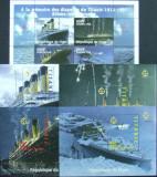 NIGER - TITANIC, 1998, 1 M/SH + 4 S/S, NEOB. -  T 031