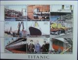 R. CENTRAFRICANA - TITANIC, 1998, 9 V IN 1 M/SH, NEOB. -  T 016