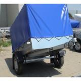 Remorca auto 450 kg mono ax cu prelata *pe stoc* cu rate*