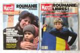 "Doua reviste ""PARIS MATCH"", 1990 despre Revolutia Romana  din 1989"