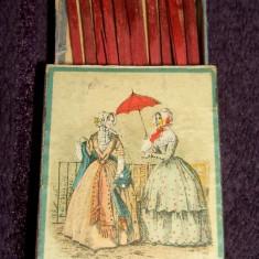 La plimbare - Chibriturile S.A.R. 1935, chibrituri romanesti din lemn, cu bete