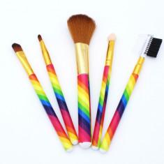 Set 5 pensule pentru machiaj Rainbow
