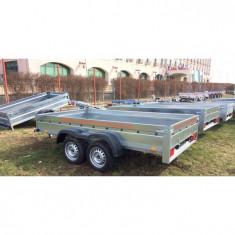 Remorca auto Platforma dublu ax 750 kg 300 x 160 x 30 *in rate *pe stoc - Utilitare auto