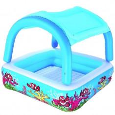 Piscina gonflabila BestWay, cu parasolar, albastra - Piscina copii