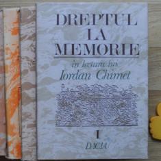 Dreptul la memorie Iordan Chimet 4 volume - Studiu literar