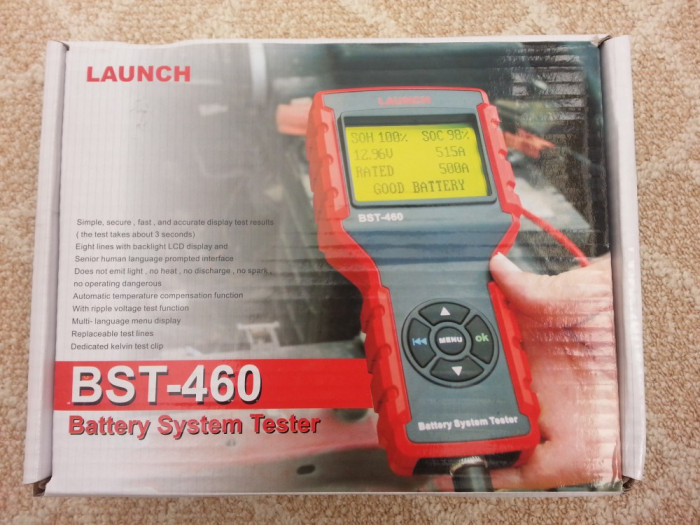Launch BST-460 - tester profesional baterii, alternator, electromotor