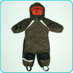 Combinezon-salopeta iarna, impermeabil, KIKI & KOKO→ baieti | 12-18 luni | 80-86, Marime: Alta, Culoare: Maro