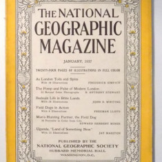 THE NATIONAL GEOGRAPHIC MAGAZINE, JANUARY 1937