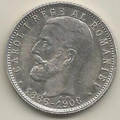 ROMANIA 1 LEU 1906 [1] XF+, livrare in cartonas - Moneda Romania, Argint