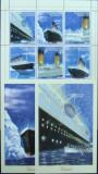 TAPIKISTAN - DEZASTRUL TITANIC, 1992, 1 M/SH + 2 S/S, NEOB. -  T 034