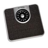 Cantar corporal mecanic Innofit INN-104, 130 kg, Negru - Cantar de baie