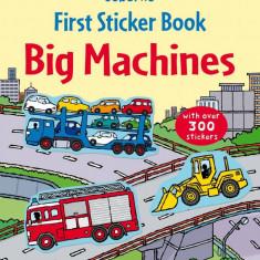 First Sticker Book Big Machines (bind-up) - Usborne book (3+)