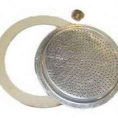 Accesorii de aluminiu. mașină de cafea 3 piese (1 bucată de cauciuc, 1 filtru superior, 1 ventil)Perfect Home 12023