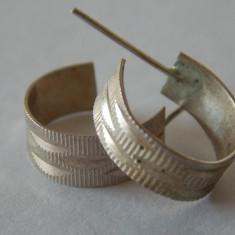 Cercei argint vintage - Bijuterie veche