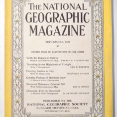 THE NATIONAL GEOGRAPHIC MAGAZINE, SEPTEMBER 1935