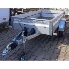 Remorca auto monoax 750 kg 201x108x33 cu sistem de franare*cu rate *pe stoc