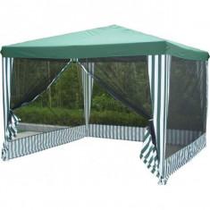 Pavilion de gradina 3 x 3 m, verde, cu plasa insecte - Pavilion gradina