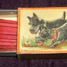 Bichoni negri - Chibriturile S.A.R. 1934, chibrituri romanesti din lemn, cu bete