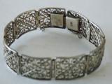 Bratara argint vintage cu filigram