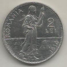 ROMANIA 2 LEI 1914 [3] XF++, livrare in cartonas - Moneda Romania, Argint