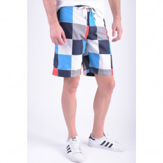 Pantaloni Scurti Jack&Jones cube Board Shorts Blue / White / Red - Bermude barbati, Marime: S, Culoare: Multicolor
