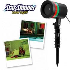 LICHIDARE STOC! LASER STAR SHOWER LASER LIGHT+STATIV INCLUS,LUMINI SARBATORI.NOU