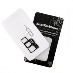 NOU! Adaptor cartela Micro SIM+Nano SIM pentru samsung iphone HTC etc - Adaptor microsim