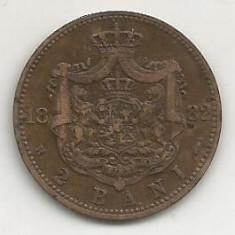 ROMANIA 2 BANI 1882 [1] livrare in cartonas - Moneda Romania, Cupru (arama)