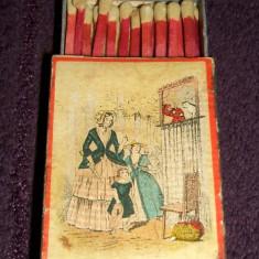 Teatru de papusi, Chibriturile S.A.R. 1935 chibrituri romanesti din lemn cu bete