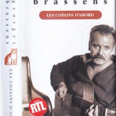 Caseta audio: Georges Brassens - Les copains d'abord ( 1989 - originala )