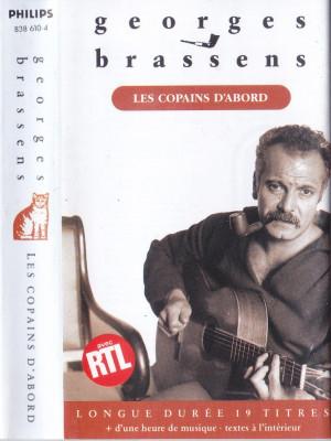 Caseta audio: Georges Brassens - Les copains d'abord ( 1989 - originala ) foto