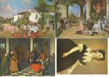 AMS* - LOT DE 4 ILUSTRATE NECIRCULATE CU TEMA PICTURA THEODOR AMAN, Altul, Europa