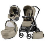 Carucior 3 In 1, Peg Perego, Book Plus 51 Black Sportivo Geo, Peg Perego