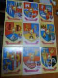 AMS. LOT DE 27 MAXIME IN PERFECTA STARE CU TEMA STEMELE JUDETELOR, Altul, Romania de la 1950
