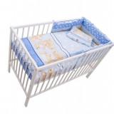 Lenjerie Mykids Teddy Hug Blue 4 Piese 140X70 - Lenjerie pat copii
