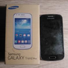 Telefon - Telefon mobil Samsung Galaxy Trend Plus, Negru, Neblocat
