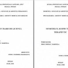 LUCRARE DE LICENTA AMF – MUSETELUL SI EFECTUL SAU TERAPEUTIC - Carte Farmacologie
