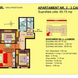 Vand apartament 3 camere, etaj 2, zona Tractorul-Brasov - Apartament de vanzare, 66 mp, Numar camere: 3, An constructie: 2018, Etajul 2