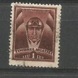 No(9) timbre-Romania -TIMBRUL AVIATIEI-stampilat