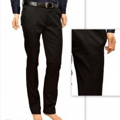 Pantaloni Slim Fit Negri bumbac - Pantaloni barbati eleganti-casual PN23, Marime: 29, 30, 31, 32, 33, 34, 36, Culoare: Bleumarin, Negru, Lungi