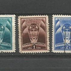 No(8) timbre-Romania -TIMBRUL AVIATIEI-stampilat, An: 1936